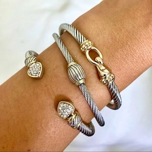 Jewelry - 18K Gold Plated Two-Tones Twisted Bracelet